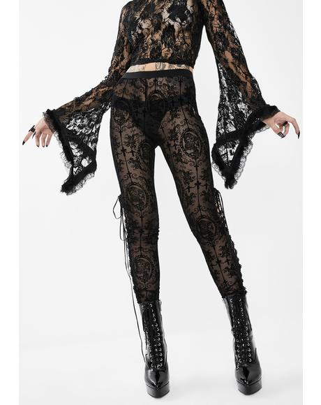 Skinny Sheer Lace Pants