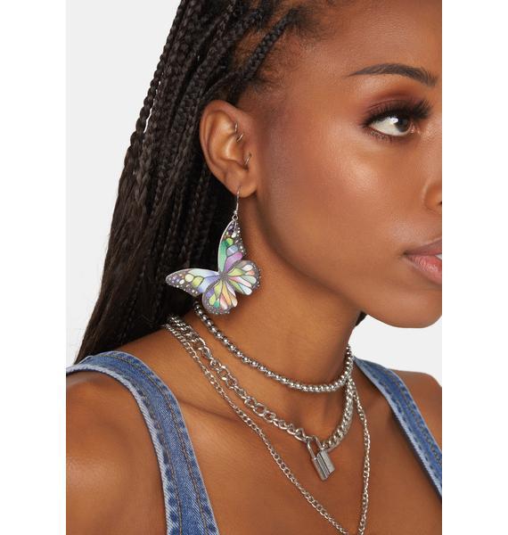Pretty Prism Butterfly Earrings