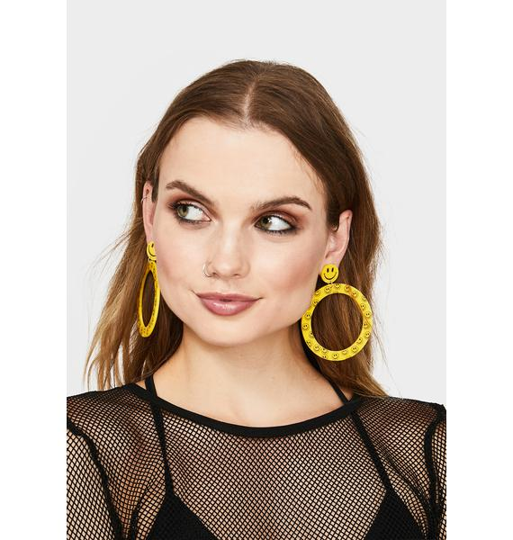 Crack A Smile Drop Earrings