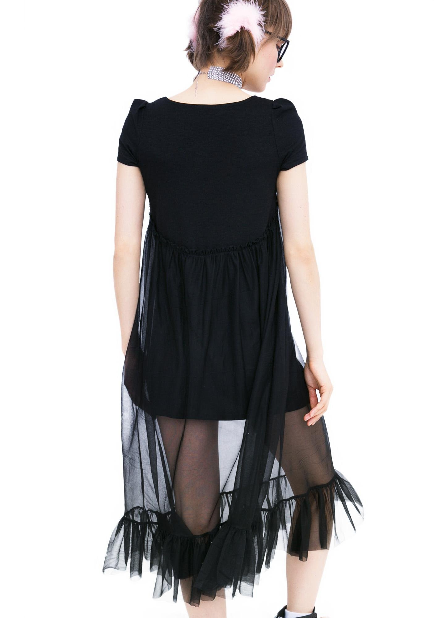 one spo Tulle Camisole Dress