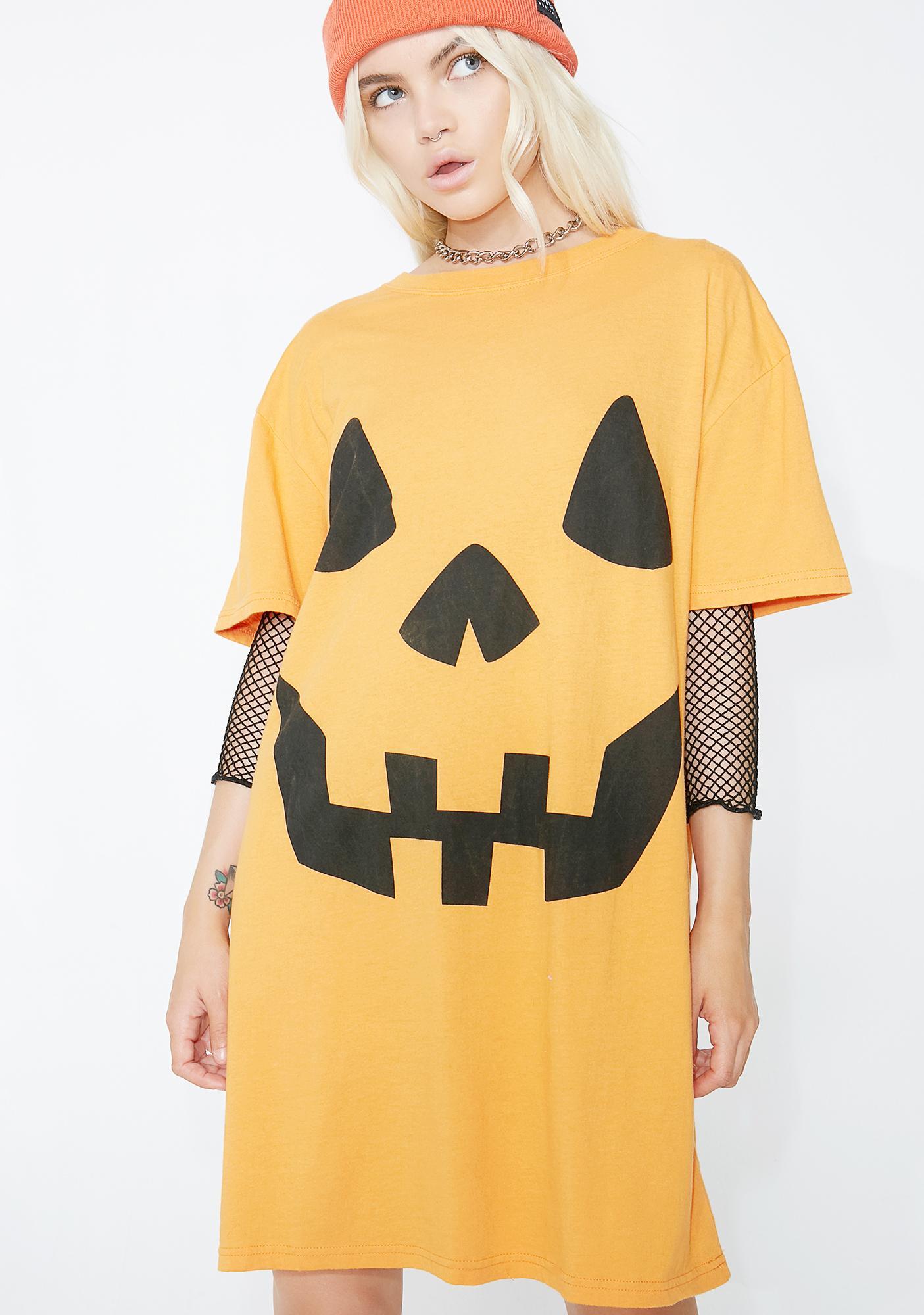 105f3dc7aa Ladies Halloween Jack O  Lantern Tee