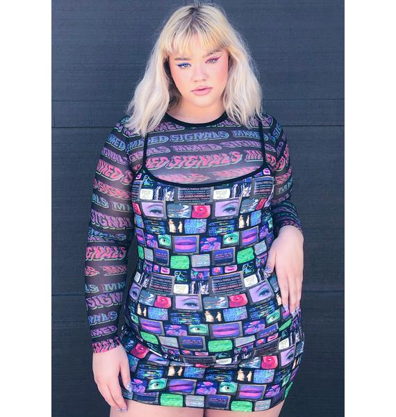 HOROSCOPEZ Major Technical Difficulties Mini Dress
