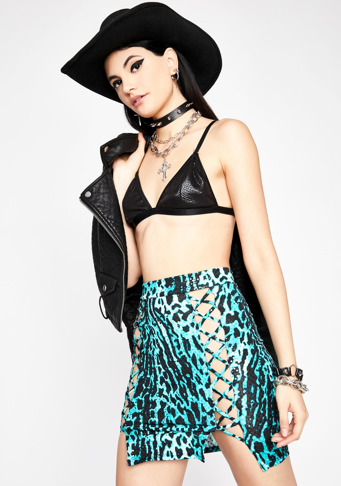 Trude Crude Glamour Mini Skirt