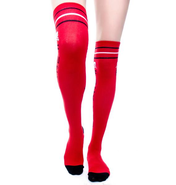 Sourpuss Clothing F You Knee Socks