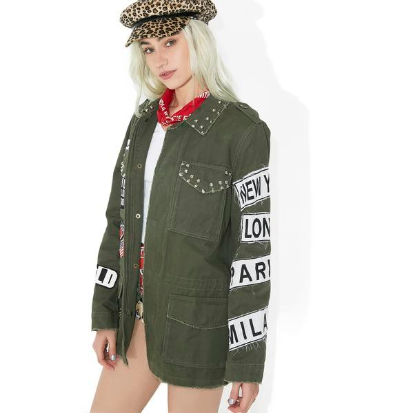 Armed N' Dangerous Patched Army Jacket