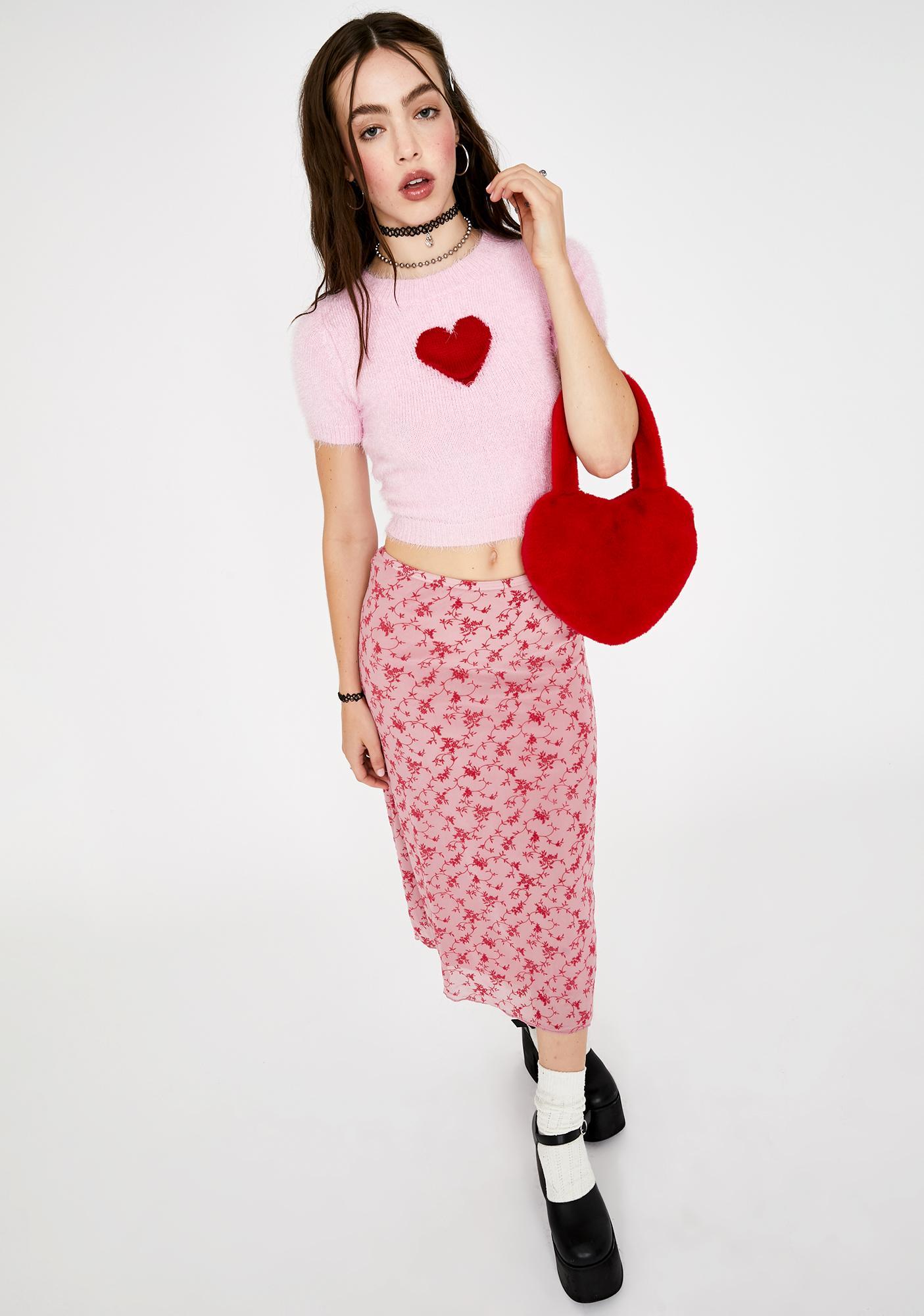 Motel Love Bloom Taura Midi Skirt