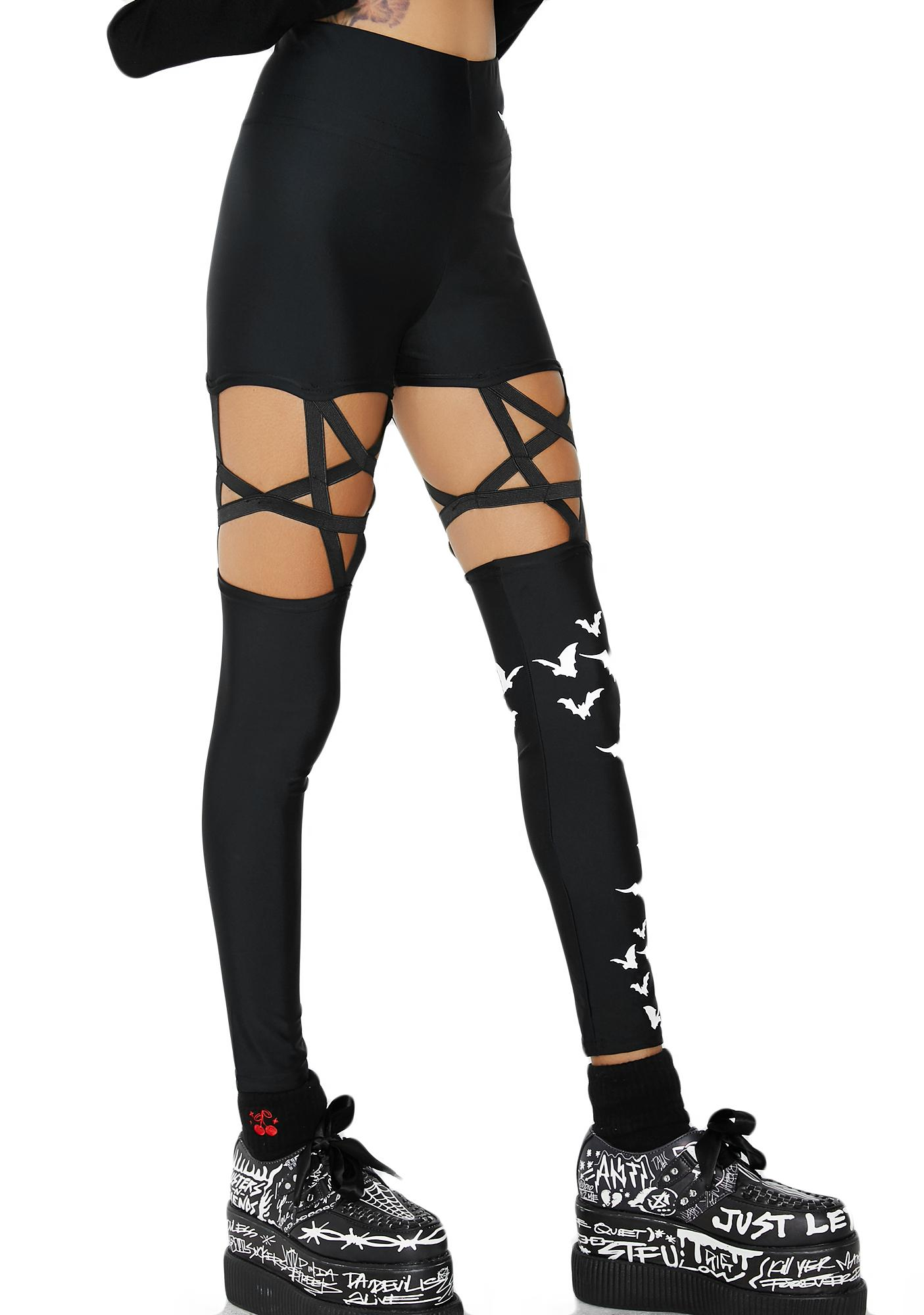 Creep In The Night Strappy Leggings