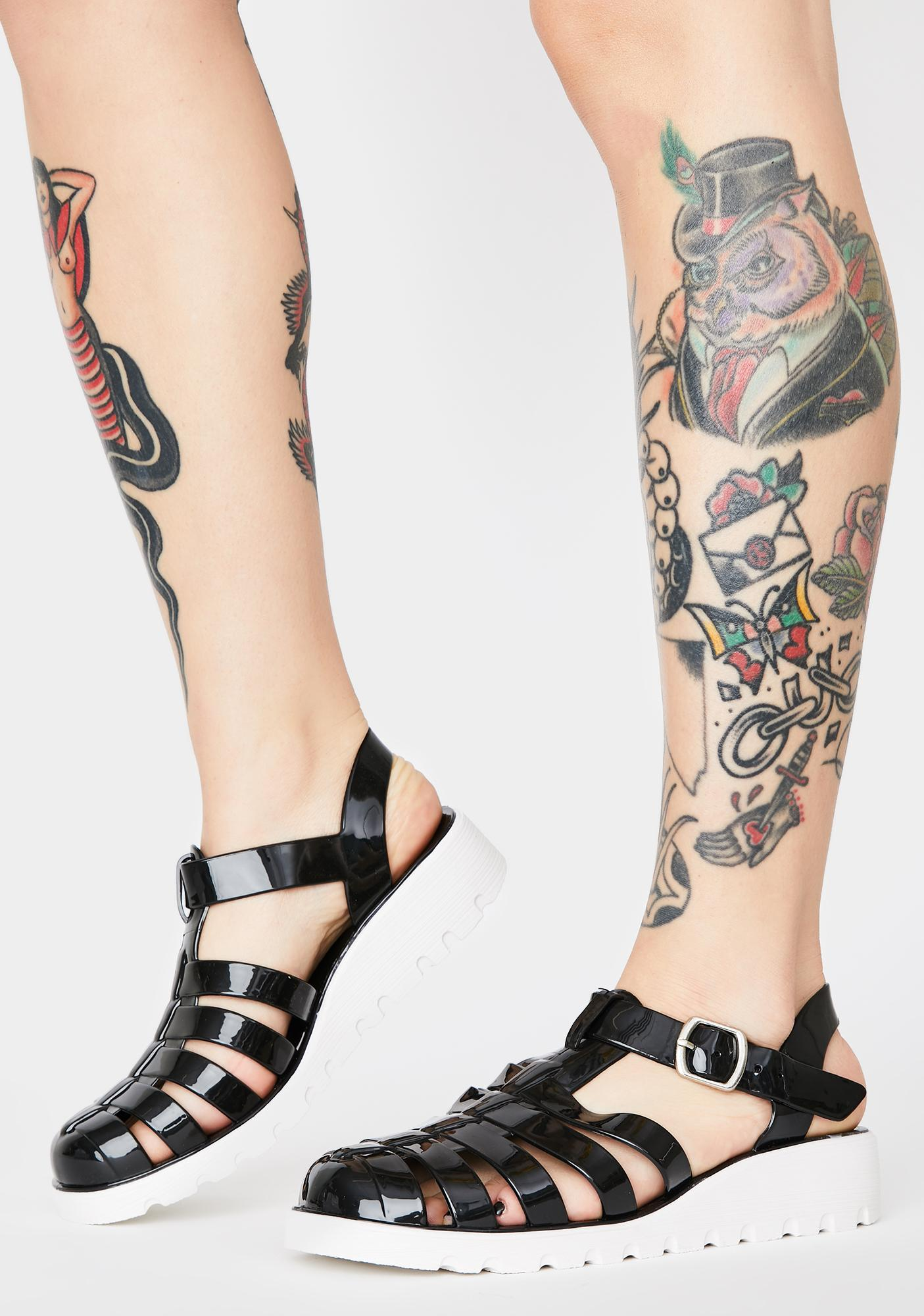Kick To The Curb Jelly Shoes