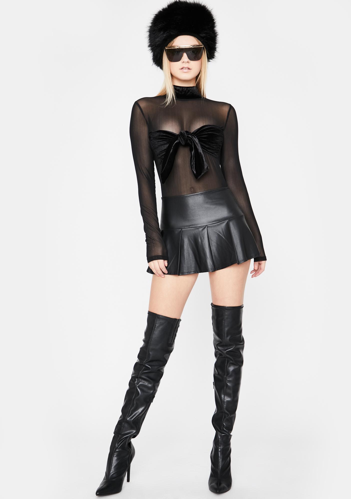 Play Ur Part Velvet Bodysuit