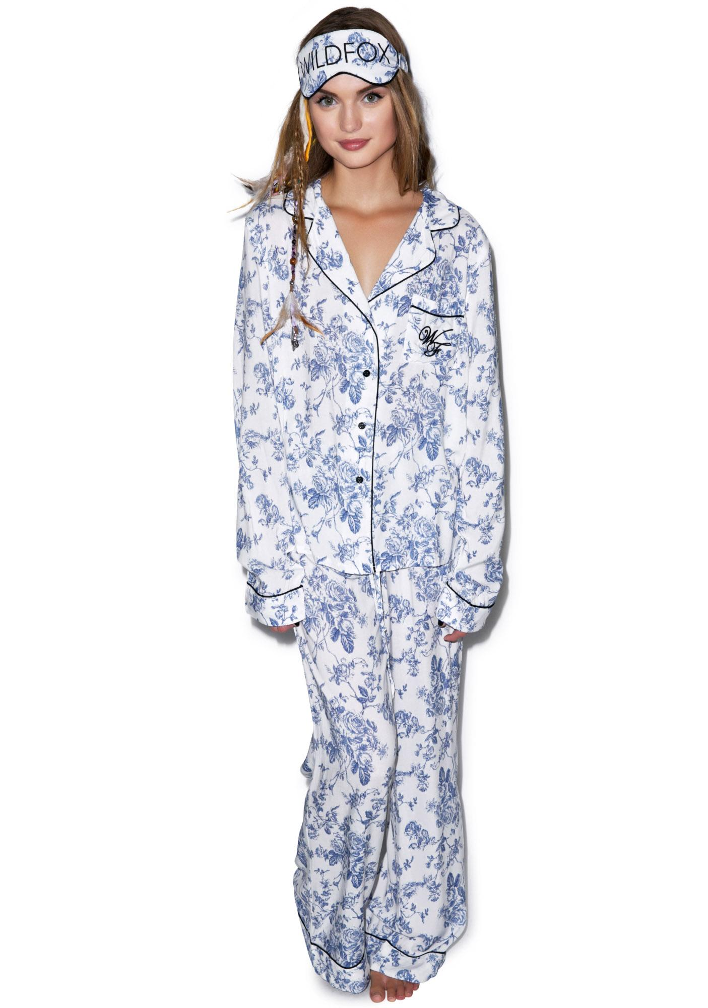 Wildfox Couture English Toile Classic PJ Set