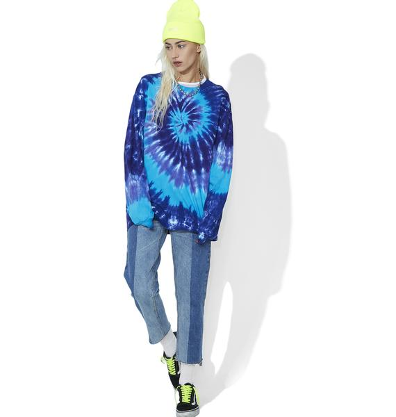 Killer Waves Tie-Dye Long Sleeve Tee