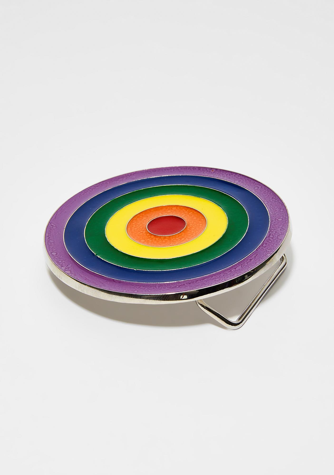 Rainbow Bullseye Buckle