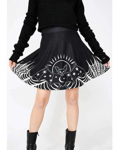 Starry Eyed Bat Skater Skirt
