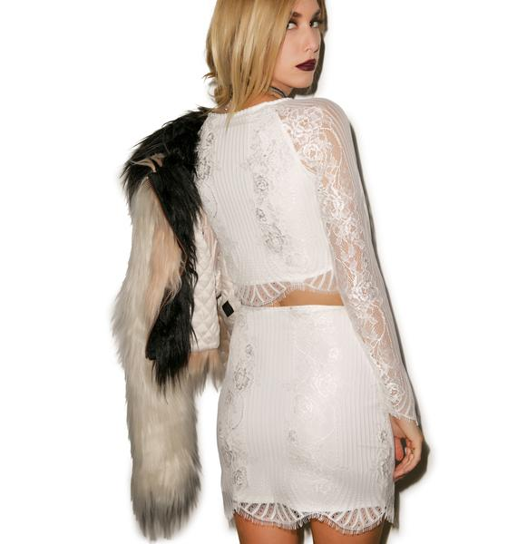 For Love & Lemons Lolo Mini Skirt