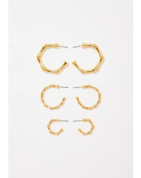 Rich Vibez Earring Set