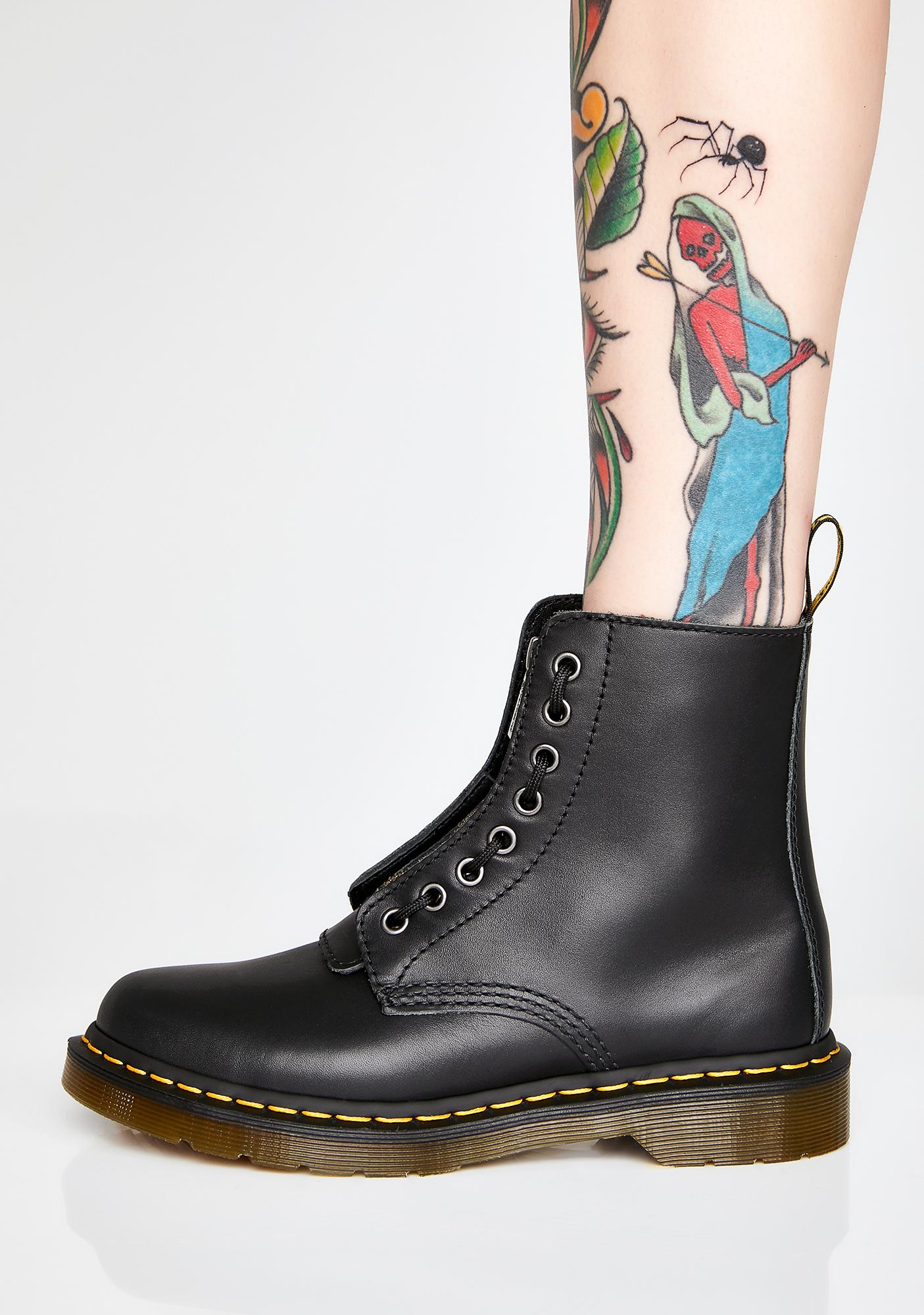 Dr. Martens 1460 Pascal Front Zip Boots
