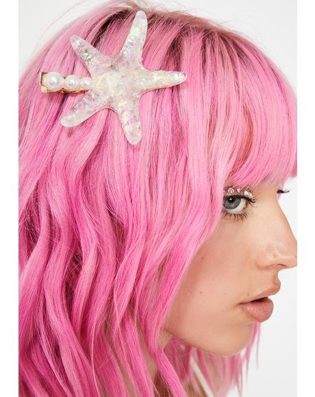 Pearly Seas Star Hair Clip