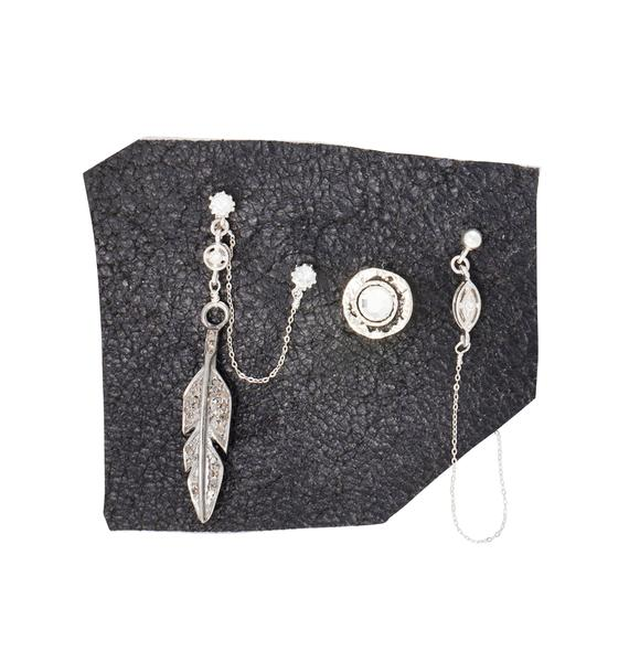 Vanessa Mooney Slow Talk Feather Earring Set