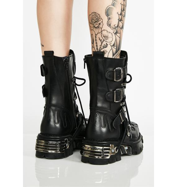 New Rock Skull Crusher Platform Boots