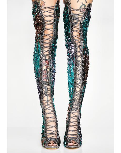 Fairy Sparkle Lace-Up Boots