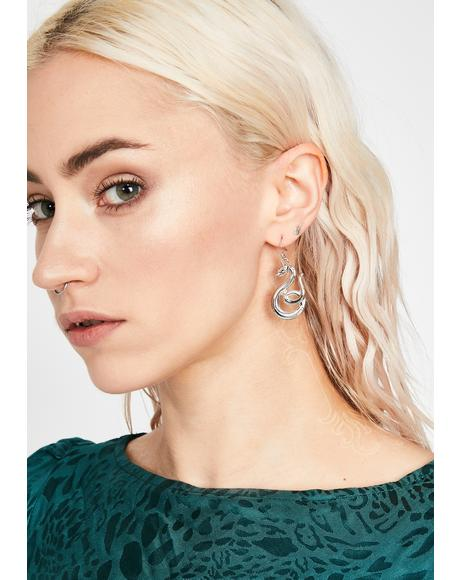 Charm Me Snake Earrings