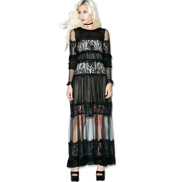 For Love & Lemons Alexa Maxi Dress