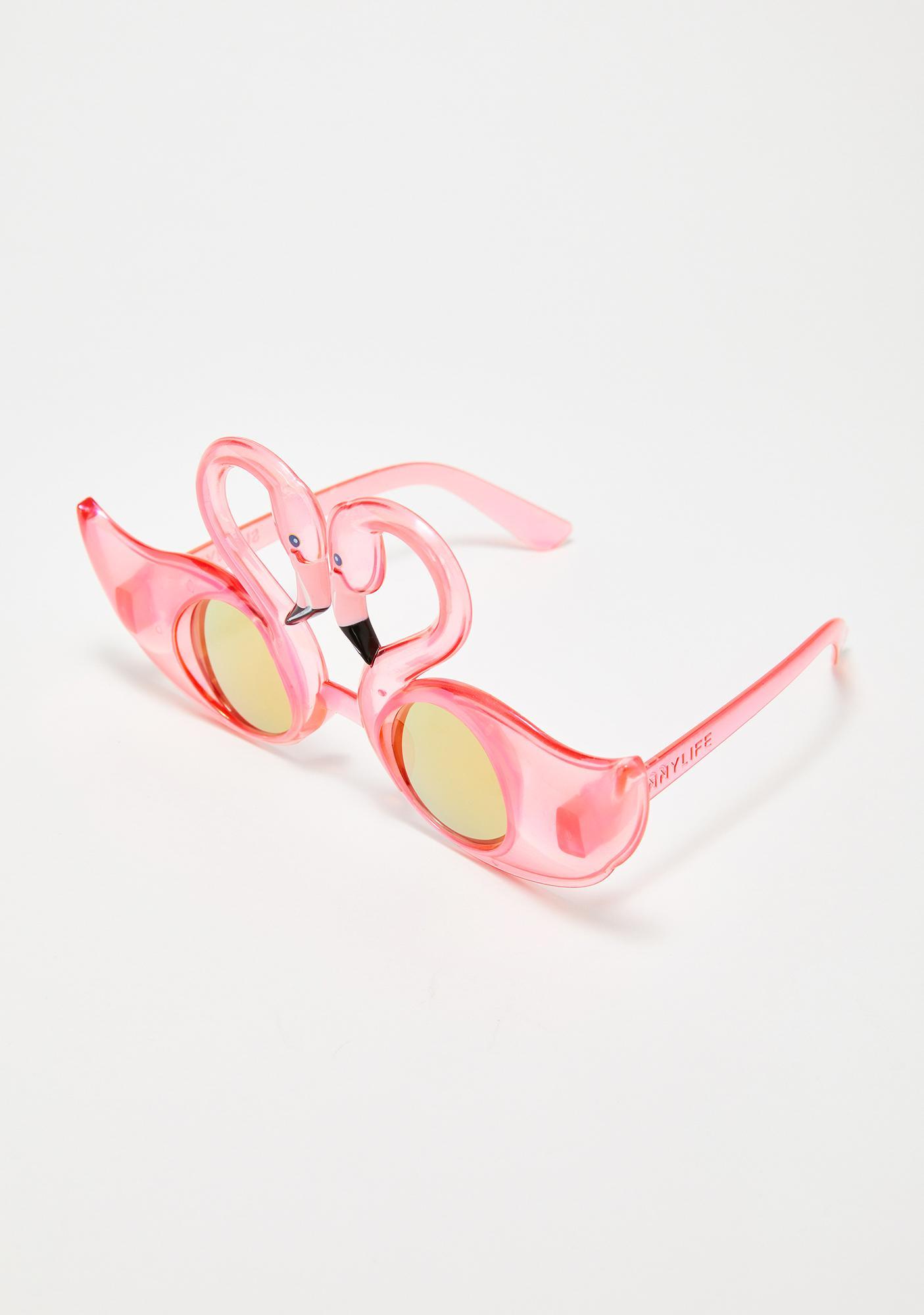 Mingle Time Flamingo Sunglasses