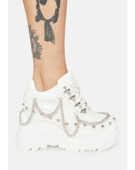 Pure Patent Space Candy Platform Sneakers
