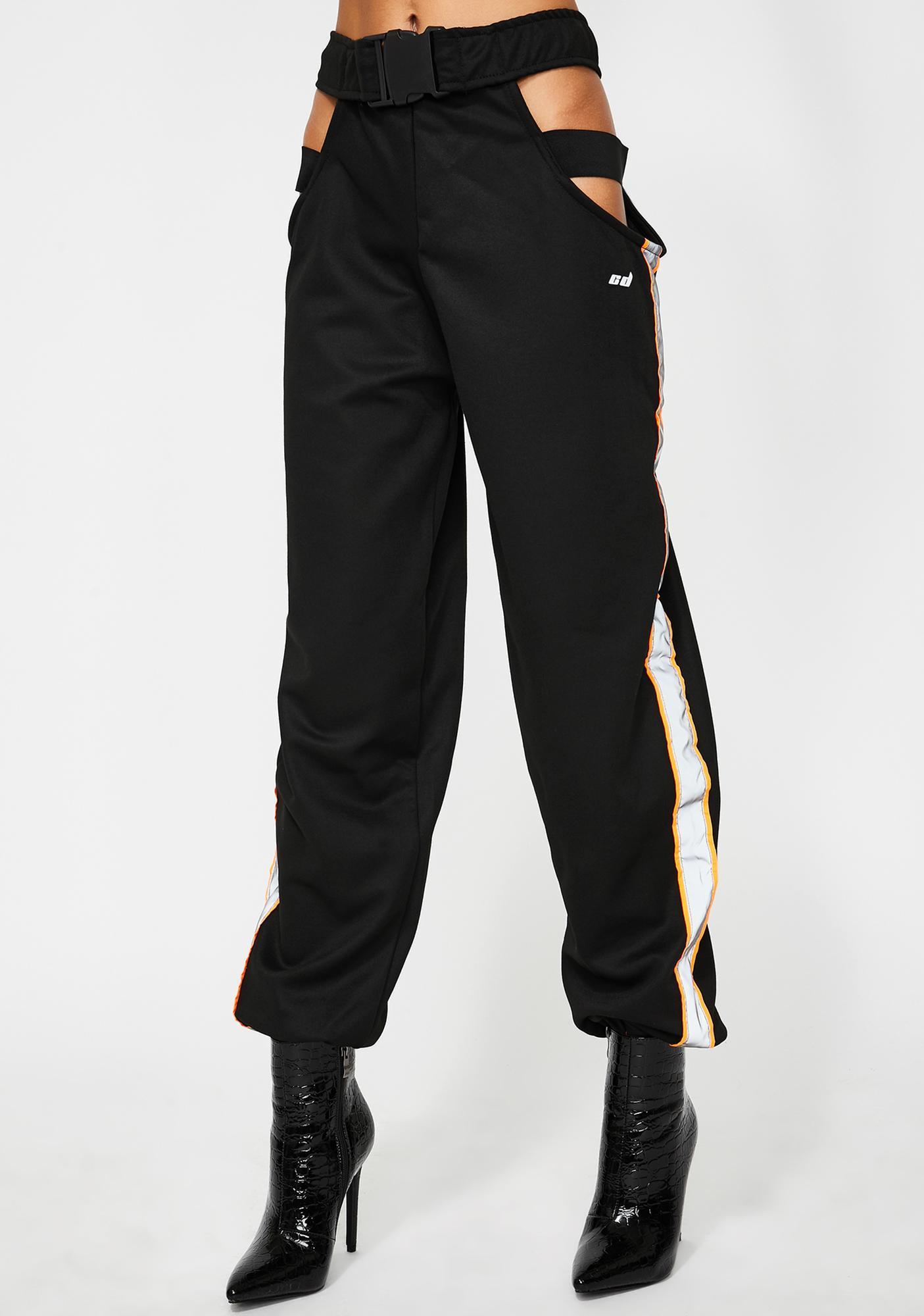 Criminal Damage Ola Reflective Cut-Out Trousers