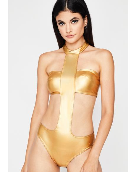 Futurama Drama Metallic Bodysuit