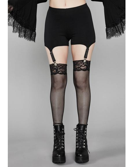 Burnin' Desire Garter Leggings