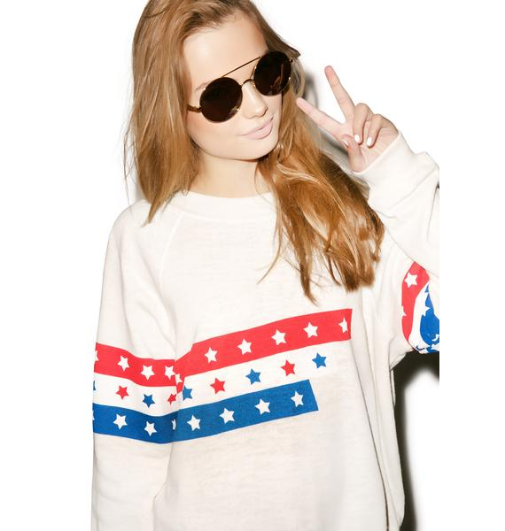 Wildfox Couture U.S. Racer Kim's Sweater