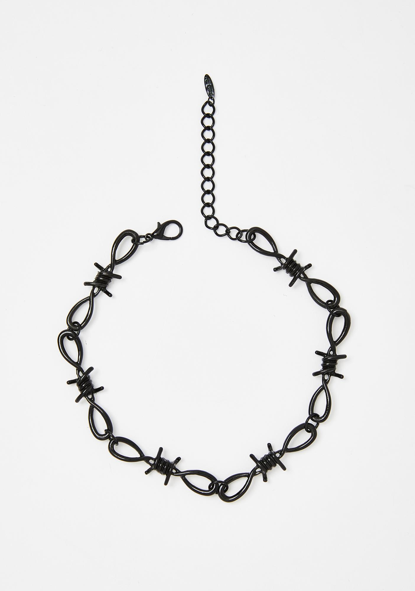 Dark Toxic Touch Barbed Wire Choker