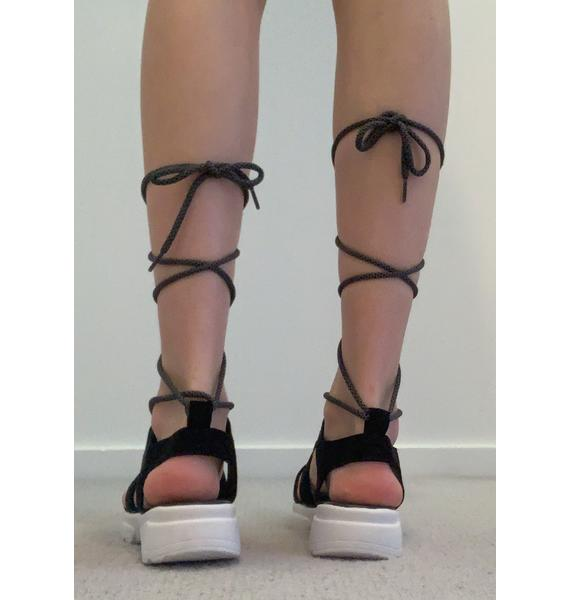 Dark Total Shock Gladiator Sandals