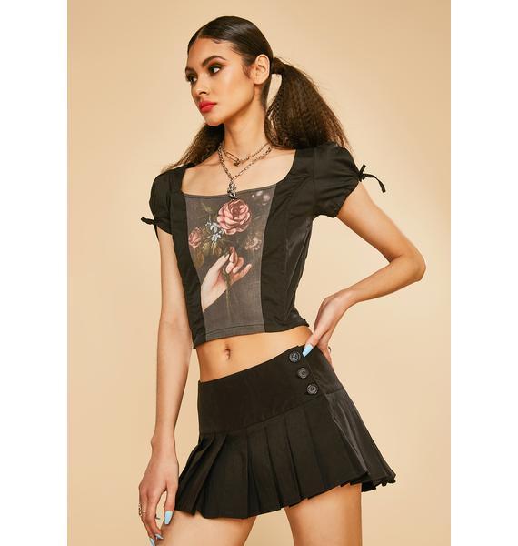 Current Mood Stop N' Stare Pleated Mini Skirt