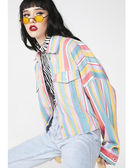 Candied Heart Striped Jacket