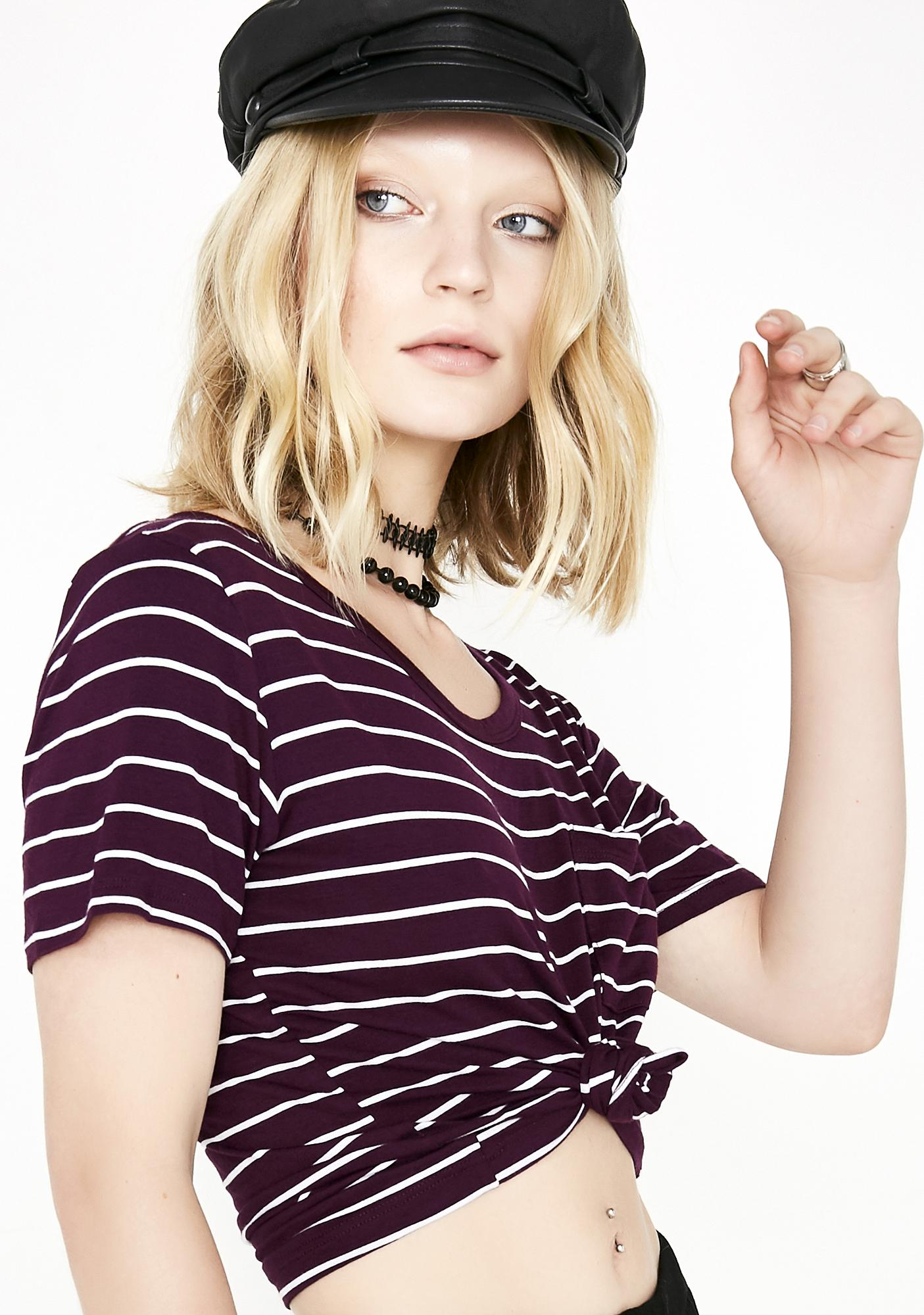 Later Loser Stripe Top