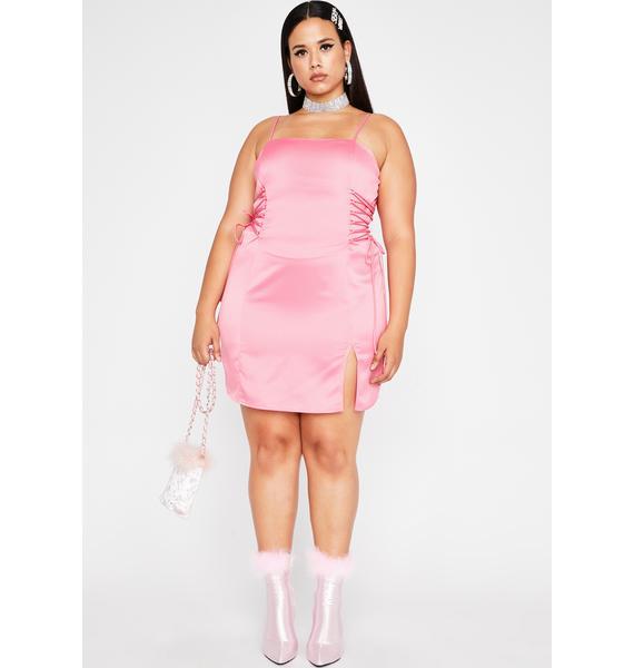 Candy Gotta Spoil Myself Lace-Up Dress