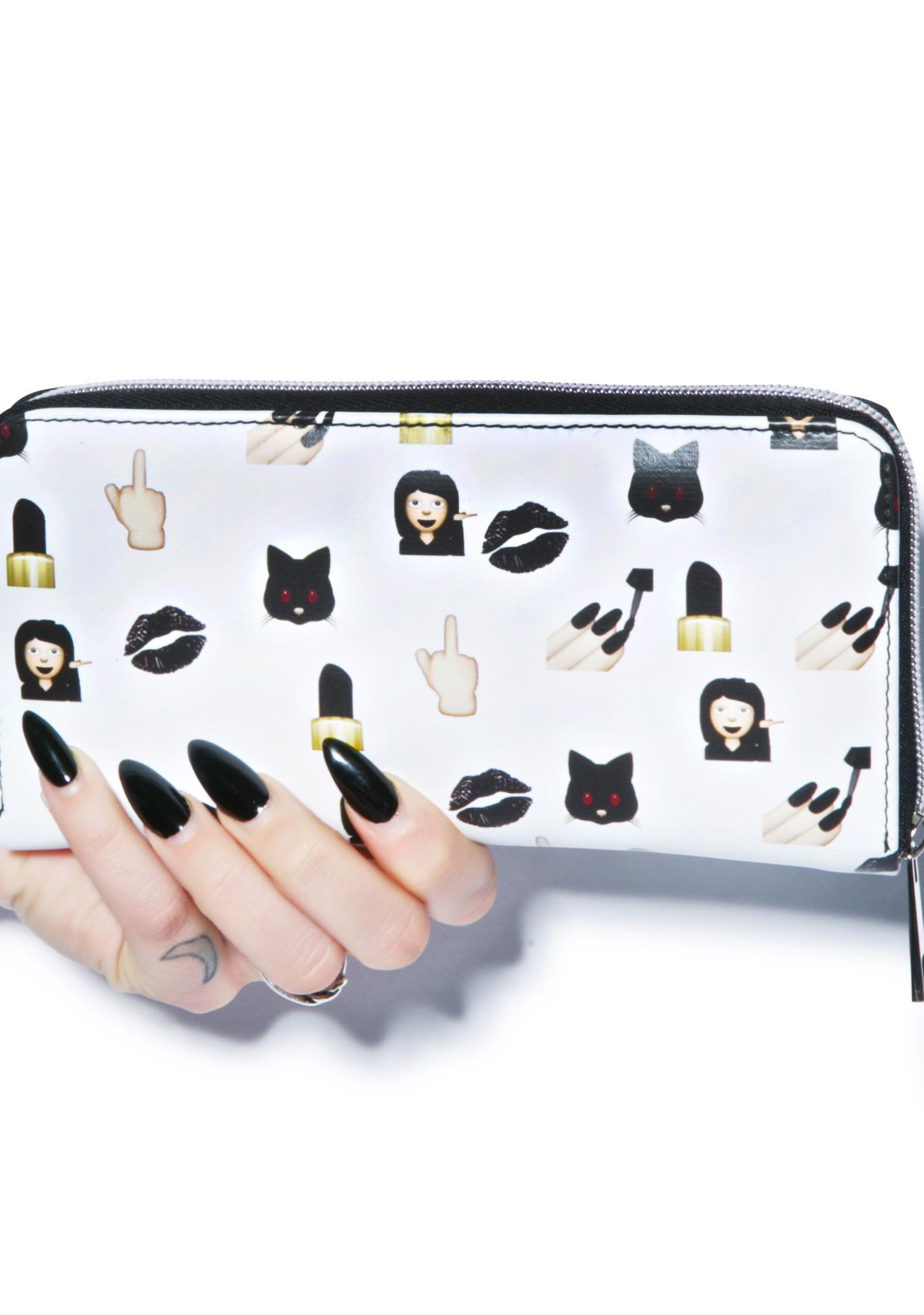 O Mighty Bad Bish Emoji Wallet