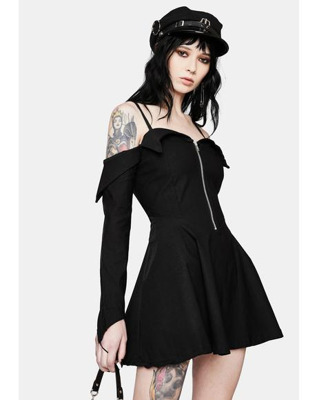 Hemera Bardot Mini Dress
