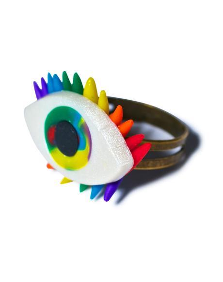 All Eyez On U Rainbow Ring