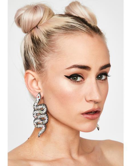 Chrome Spittin' Poison Drop Earrings