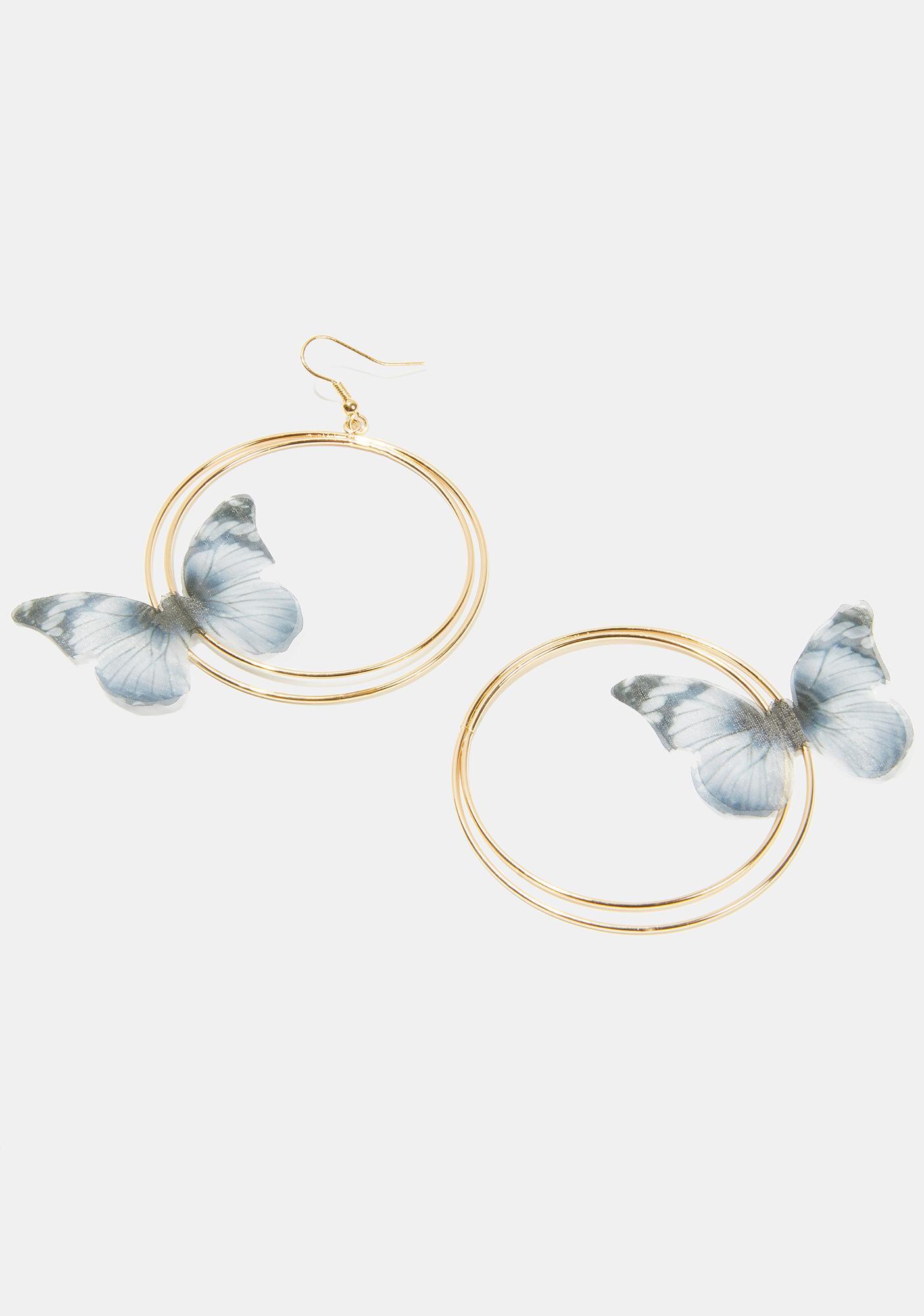 Born A Star Hoop Earrings