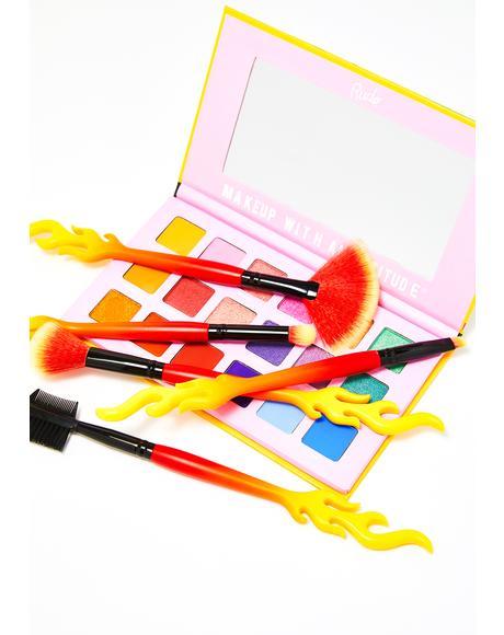 Fiery Hot Makeup Brush Set