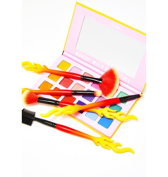 Current Mood Fiery Hot Makeup Brush Set