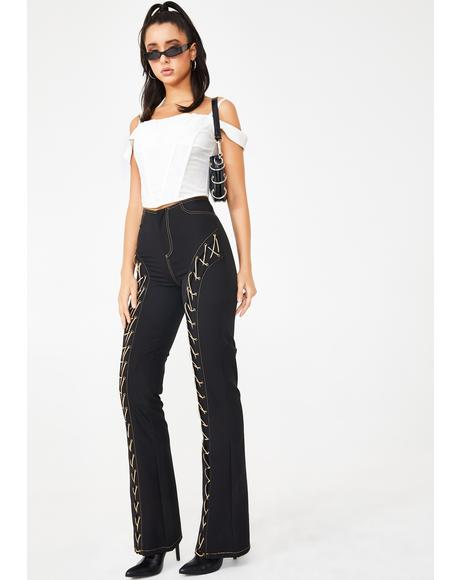 Loretta Lace Up Pants