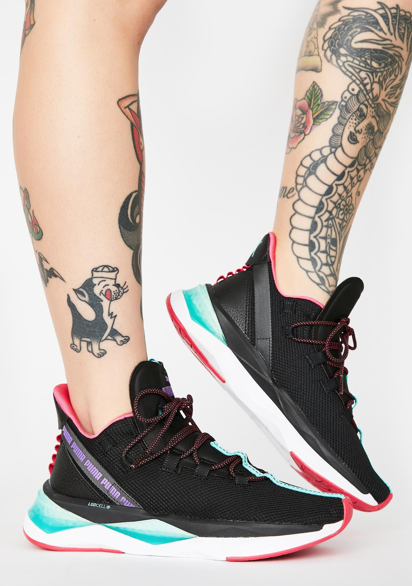 Black LQDCELL Shatter XT Trail Sneakers