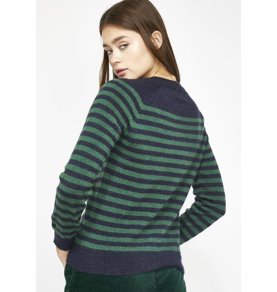 Calm N' Collected Stripe Sweater
