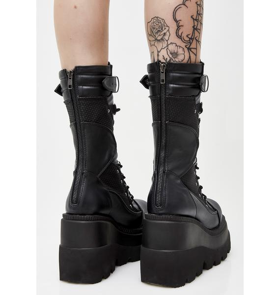 Demonia High Rise Shaker Boots