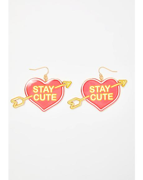 Cutie In The City Heart Earrings